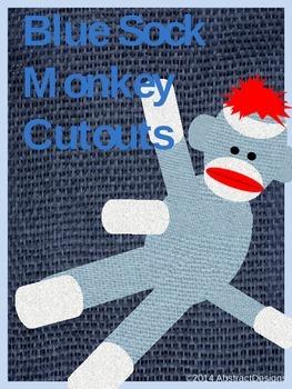 Blue Sock Monkey Cutouts