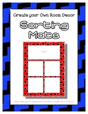 Blue Sorting Mat Frames * Create Your Own Dream Classroom