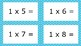 Blue Spotty Times Tables Flash Cards