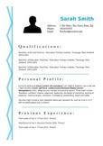 Blue Squiggle Resume