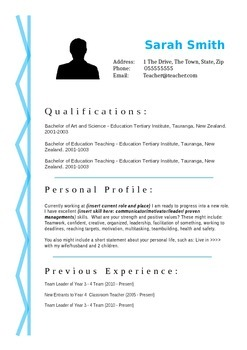 Blue Squiggle Resume