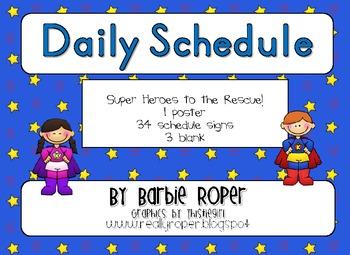 Blue Stars Super Hero Daily Schedule