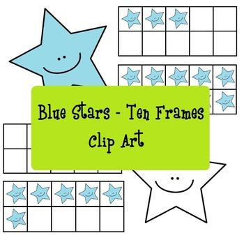 Blue Stars Ten Frames - Stelline azzurre analogiche