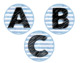 Blue Stripe Library Labels