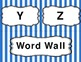 Blue Stripe Word Wall Set