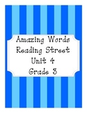 Reading Street Amazing Words Unit 4-Grade 3 (Blue Striped)