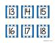 Blue Striped Calendar Numbers
