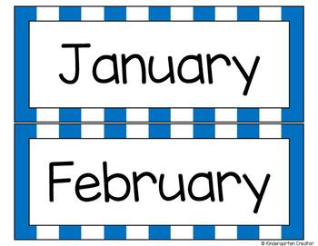 Blue Striped Calendar Pack