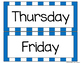 Blue Striped Days of the Week