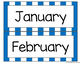 Blue Striped Months of the Year