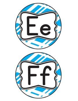 Blue Stripe Alphabet Letters
