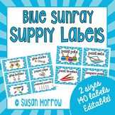 Blue Sunray Supply Labels Special Request