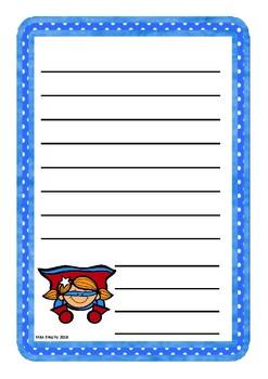 Blue Superheroes Worksheets