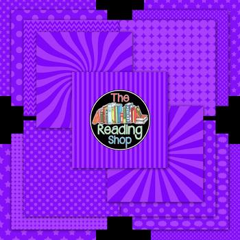 Purple Patterned Digital Papers Frames Banner