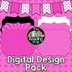 Pink TPT Seller Digital Design Pack - Digital Papers, Filled Frames, Banner