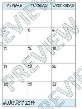 Blue Teacher Binder (Calendar, Binder Covers, and More)