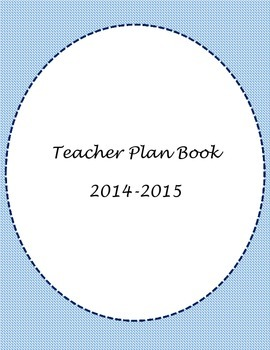 Blue Teacher Binder Cover