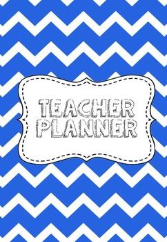 Blue Teacher Planner