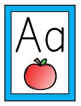 Blue Theme Alphabet Posters