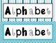 Blue Theme Alphabet, Ten Frames 1- 21, Number Cards, & Money