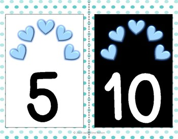 Blue Theme Counting by 5's and 10's to 120