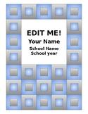 Blue Tile Teacher Planner