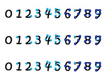Blue Touch Math Strips