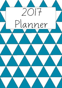 Blue Triangle Planner Cover