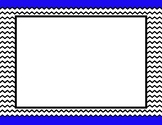 Blue Trim Background w/ Frame