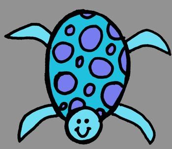 Blue Turtle Freebie -MadeForSecondGrade