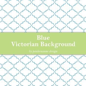 Blue Victorian Pattern Background