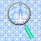 Blue Water Splashes Kalidoscope Backgrounds / Digital Paper Clip Art