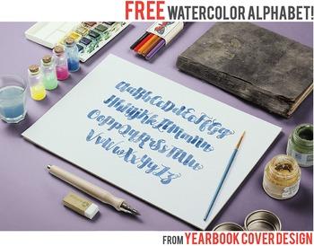 Blue Watercolor Alphabet