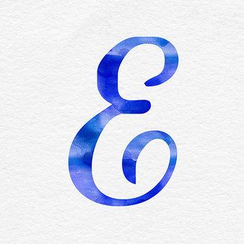 Blue Watercolor Alphabet Clip Art