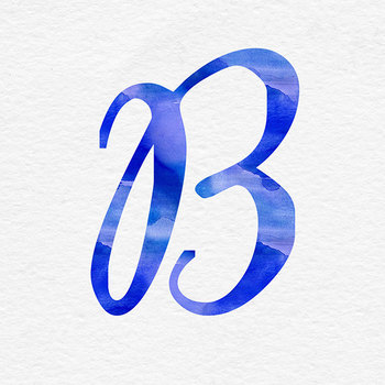 Blue Watercolor Alphabet Clip Art