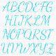 Blue Watercolor Alphabet Clipart {Pretty ABC's}