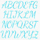 Blue Watercolor Alphabet Clipart