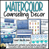 School Counseling Office Decor Calming Blue