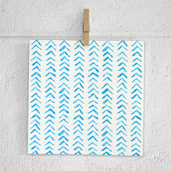 Blue Watercolor Hand Painted Patterns