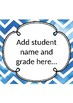 Blue Watercolour Assessment and Data Tracker- Kindergarten/Foundation/Prep