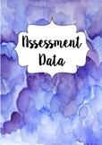 Blue Watercolour Assessment and Data Tracker- Kindergarten
