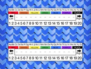Blue Weaved Desk Name Tag Plates Set