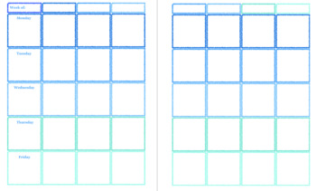 Blue Weekly Lesson Planner