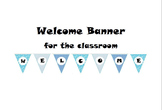 Blue Welcome Banner