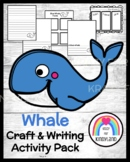 Blue Whale Craft Topper and Writing Activity for Ocean Lit