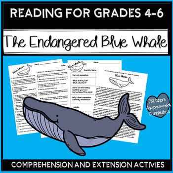 Earth Day Activity Endangered Species Project and Reading Comprehension