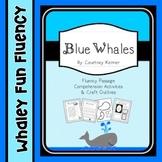 Blue Whales Fluency Passage, Comprehension Activities & Cr