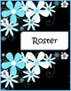 Blue White Black Daisy Binder Covers