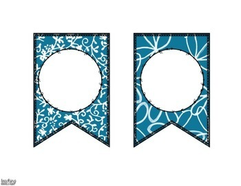 Blue and White Editable Banner for Bulletin Board Displays