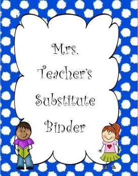 Blue & White Polka Dot Substitute Binder